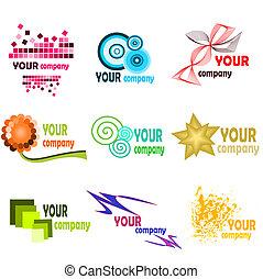 Logo elements 2 - Illustration of different kind of bussines...
