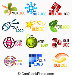 Logo elements 1 - Illustration of different kind of bussines...