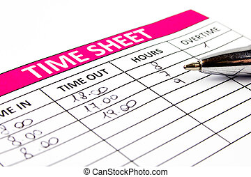 Filling Time Sheet with hours