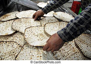 Glat Kosher Matzah Factory - A hand-made glat kosher matzah...