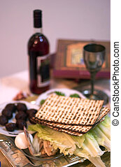 Passover Seder Dinner Celebrations - Table Ready For...