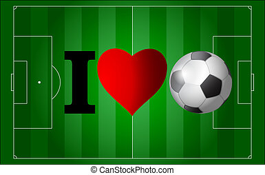 I love football - football championship continent background...