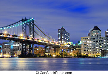 Manhattan Bridge Bridge - Manhattan Bridge spanning the East...