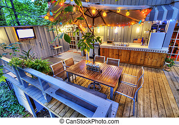 patio - nice patio at a home in the woods