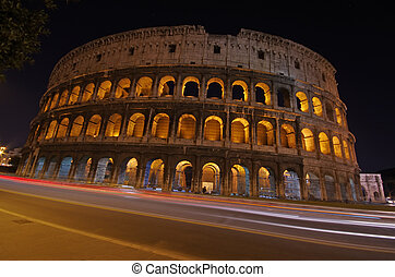 Night view in Rome