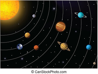 Solar system  - Vector Illustration Of Solar system