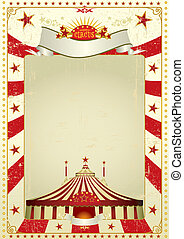 Used poster circus - A new circus vintage background with a...