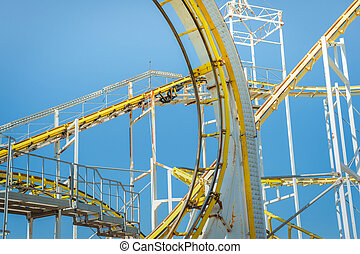 theme park ride - elements of a steel framed theme park...