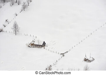 countryside in winter time
