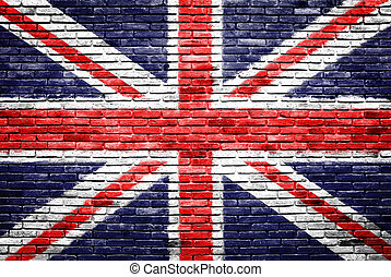 Great britain on old brick wall