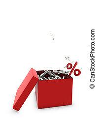 percentage on box
