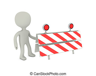 3d person with traffic panel