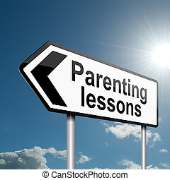 Parenting lessons. - Illustration depicting a road traffic...