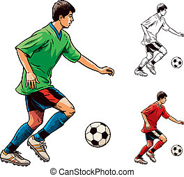 Soccer Football Player - Young soccer football player....