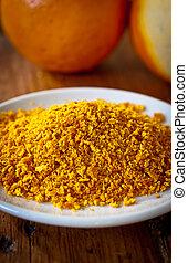 Grated orange rind