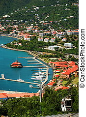 Charlotte Amalie, St Thomas - This overlook from downtown...