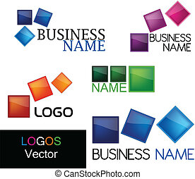 Set logos abstract vector