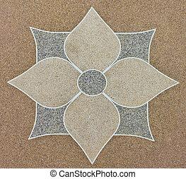 flower on gravel stone floor - the flower gravel stone floor...