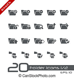 Folder Icons - Set 1 of 2 Basics - Vector icons set for your...