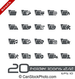 Folder Icons - Set 2 of 2 Basics - Vector icons set for your...
