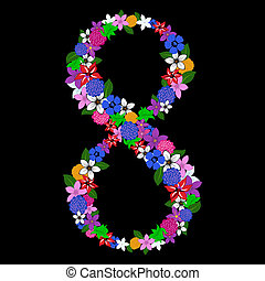 floral numeral