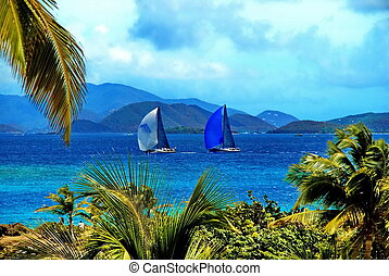 Rolex Regatta St. Thomas, USVI - Two sailboats participate...