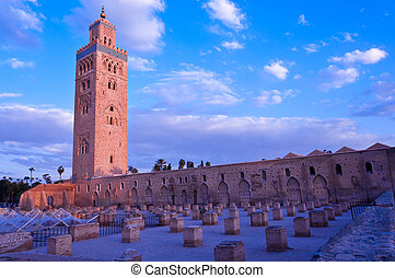 Koutubia mosque in Marakesh - one of most popular tourism...