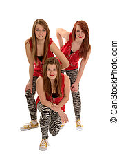 Girls Teenage Hip Hop Dance Trio - Hip Hop Girls Dance Trio...