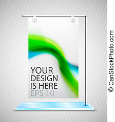 Vector poster stand banner - Vector promotional stand banner...