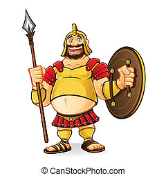 Fat Goliath - fat goliath cartoon was laughing fun while...