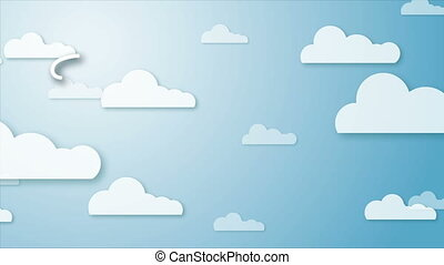 Animation - The End - Stylized animation of a sky background...