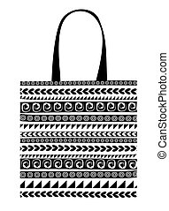 Shopping bag with ornaments for your design