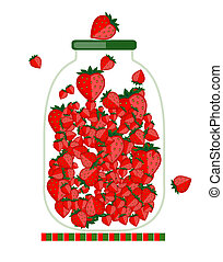 Jar with berry jam for your design