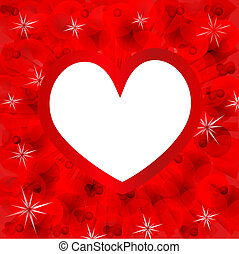 Valentin`s Day card with heart