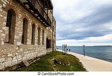 Old House on the Sea Shore in Porec, Croatia