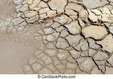 Dry soil in arid areas