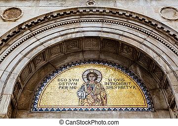 Golden Mural in the Euphrasian Church, Porec, Croatia