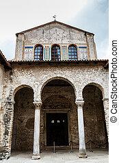 Euphrasian Church Atrium in Porec, Croatia