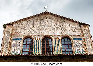 Murals of the Euphrasian Church in Porec, Croatia
