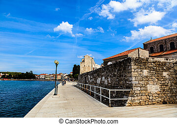 Embankment in Porec, Croatia