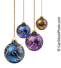 Purple Christmas balls - Four retro color Christmas balls...
