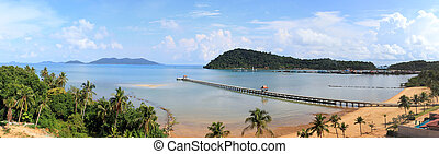 Sunny day on the tropical beach Province Trat koh chang...