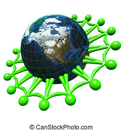 3d Unified for Green Earth Concept