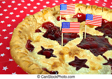 flags in cherry pie