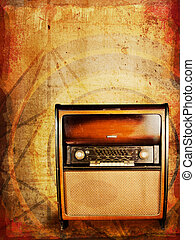 Vintage radio - Old vintage radio, an original from the...