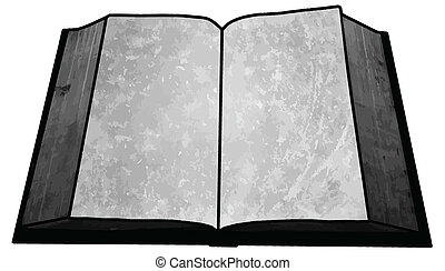 Black and White Empty Blank Book Image