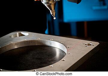 3D laser scanning - Detail of the tip of a 3d laser scanner...