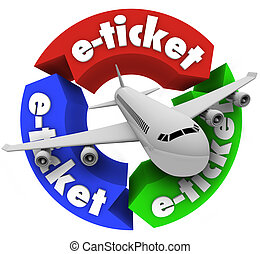 E-Ticket Airplane Travel Book Flight for Vacation or...