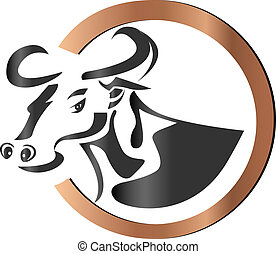 Farm cow logo vector