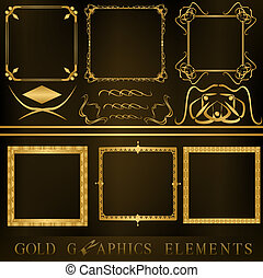 graphic element - Gold graphic element